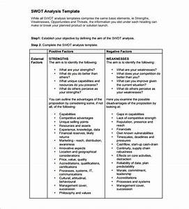 swot analysis template 52 free word excel pdf free With capabilities analysis template