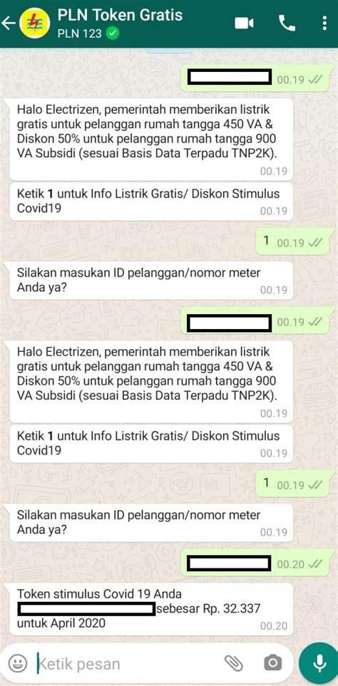 klaim token listrik gratis pln bulan oktober whatsapp