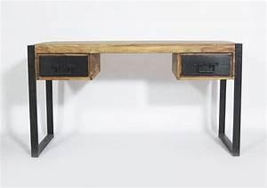 Bureau Bois Metal : bureau bois metal vente meuble bureau lepolyglotte ~ Teatrodelosmanantiales.com Idées de Décoration