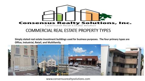 COMMERCIAL REAL ESTATE PROPERTY TYPES YouTube