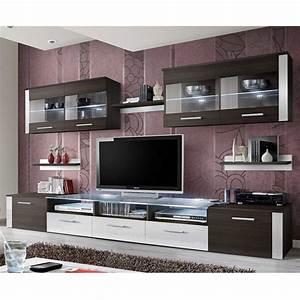 Meuble Tv 250 Cm : meuble tv mural design zoom 250cm weng blanc ~ Teatrodelosmanantiales.com Idées de Décoration