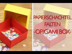 Quadratische Schachtel Falten : papierschachtel falten origami schachtel anleitung youtube ~ Eleganceandgraceweddings.com Haus und Dekorationen