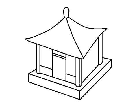 casa cinese disegno di casa cinese da colorare acolore