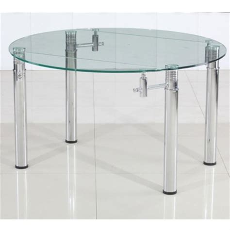 table de cuisine ronde en verre table rabattable cuisine table ronde extensible
