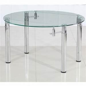 Table ronde 140 cm table ronde pour cuisine en stratifi for Deco cuisine pour table À manger verre et bois