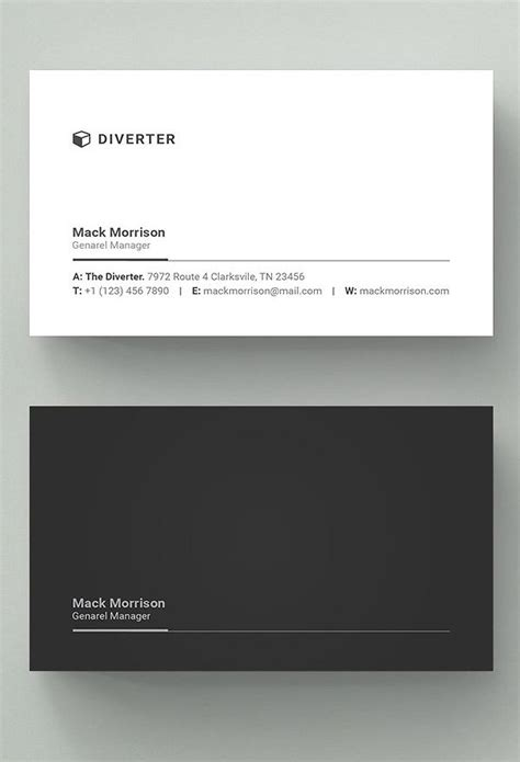 professional black out business card template simple professional business card web design ideas