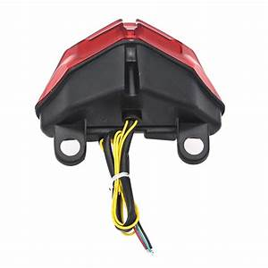 Rear Red Led Taillight Brake Turn Signal Light For Ducati