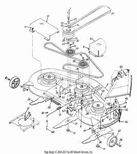 Mtd 13bg698h022  1999  Parts Diagram For Deck Assembly H