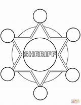 Coloring Sheriff Printable Police Drawing Categories sketch template