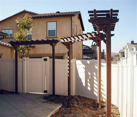arbor height two post arbors forever redwood