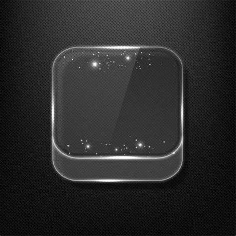 3d Kleurplaat App by 3d Glass App Icon With Shiny Reflection Vector Free