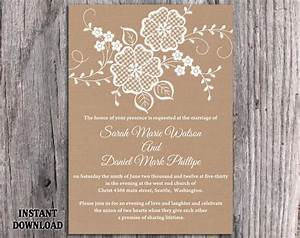 diy lace wedding invitation template editable word file With free printable vintage lace wedding invitations