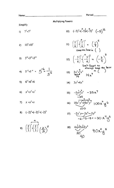 favorite grade 11 exponents worksheets goodsnyc