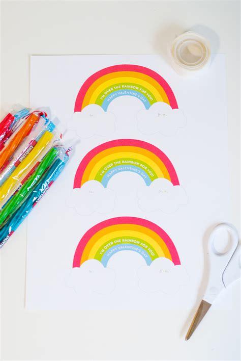 Rainbow Valentine Printable