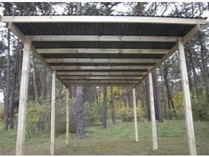 Faire Un Carport : carport en bois autoclave id2240 toit simple pente ~ Premium-room.com Idées de Décoration