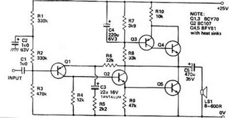 electronica circuitos diagramas circuito amplificador de potencia