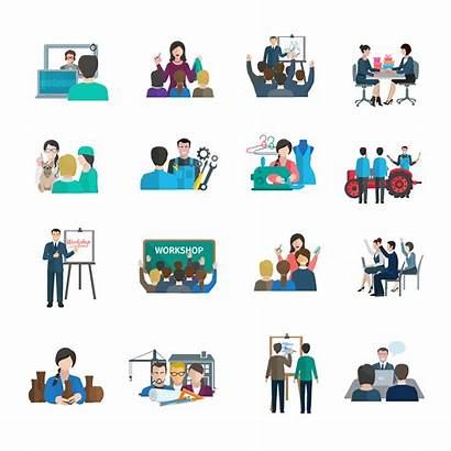 Workshop Icons Vector Flat Icon Organization Business