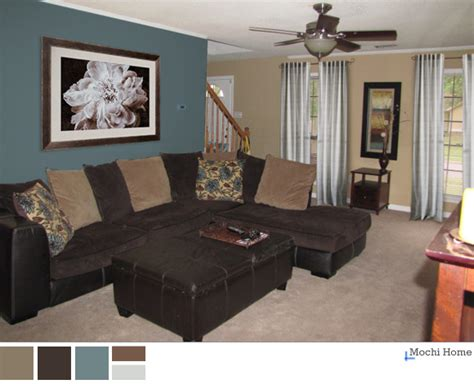 brown and teal living room 3 easy steps to ditch the boring brown mochi home