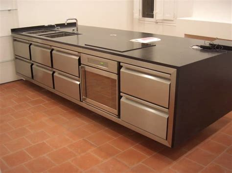 meuble cuisine en inox meuble de cuisine en inox meubles de cuisine finition faades noir satin plan de travail