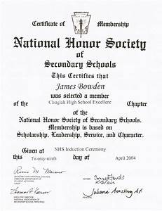 4 awards and certificates 2001 2010 james bowden39s blog With national honor society certificate template