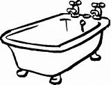 Tub Bathtub Clipart Bath Bathroom Coloring Clip Pages Cartoon Cliparts Shower Tubs Messy Related sketch template