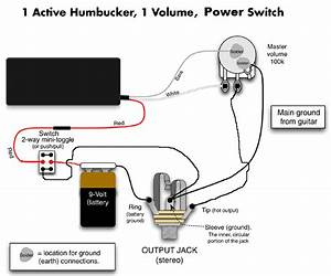 Wiring Diagram For 1 Humbucker   1 Volume Pot   1
