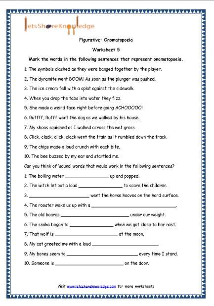 grade  english resources printable worksheets topic