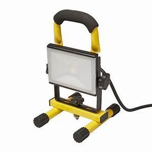 Projecteur De Chantier : projecteur de chantier portable led sur support diall 10w ~ Edinachiropracticcenter.com Idées de Décoration
