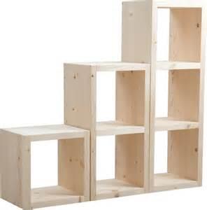 Casier De Rangement Bureau Ikea by Cube De Rangement En Bois Brut