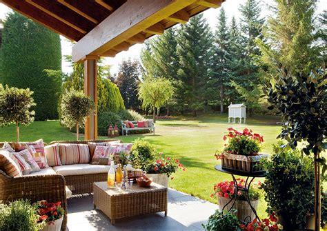 una casa en el campo  disfrutar sin prisas terraza