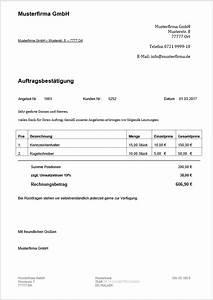 Rechnung Bestandteile : auftragsbest tigung muster grundlagen und anleitung 1 1 ~ Themetempest.com Abrechnung