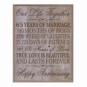 65th wedding anniversary wall plaque gifts for couple With 65 year wedding anniversary gifts