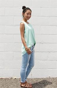 Sunday Pastel Sheer Top u0026 Light Wash Skinny Jeans | Tea for Shoe