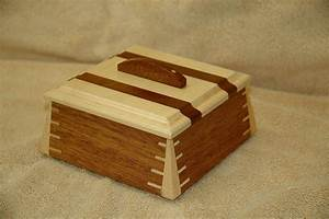 Hand Crafted Small Mahogany Wooden Box # 1 by Wooden-It-Be