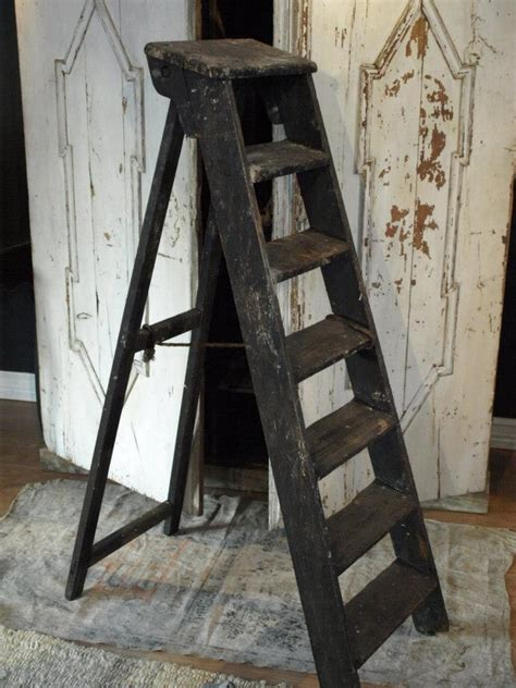 antique ladder ideas  pinterest ladders