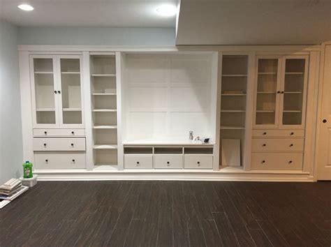 Ikea Hemnes Arbeitszimmer by Ikea Hack Built Ins In Unserer Basement Hemnes Serie