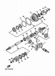 Middle Drive Gear For 2000 Yamaha Grizzly 600 Grizzly 600