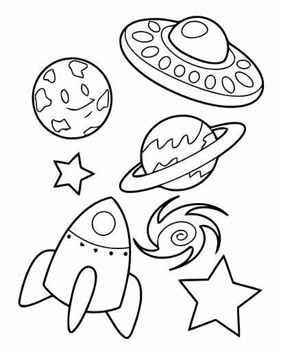 Coloring Space Espace Planetes Coloriage Lune Soleil