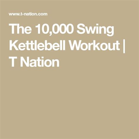 kettlebell swing workout nation