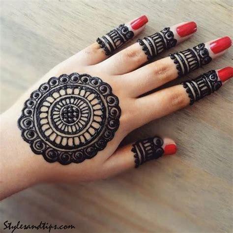 latest simple arabic mehndi designs  front hands