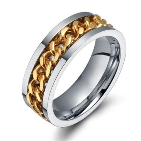 bague de mariage homme argent bague fiancaille mariage anneau homme femme chaine
