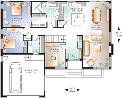 big kitchen floor plans contemporary style house plan 2 beds 1 00 baths 1676 sq