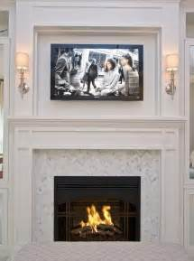marble in herringbone fireplaces