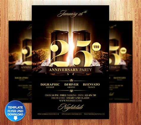 anniversary party flyers design trends premium psd