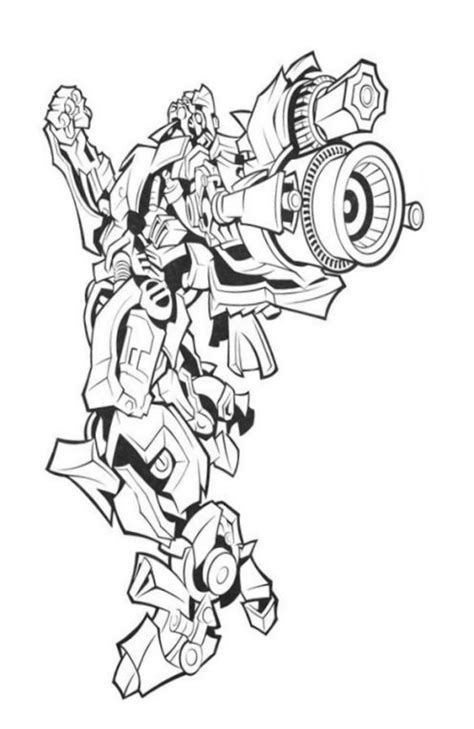 Coloring Drawing by Transformers Characters Pictures Pages To Print Free