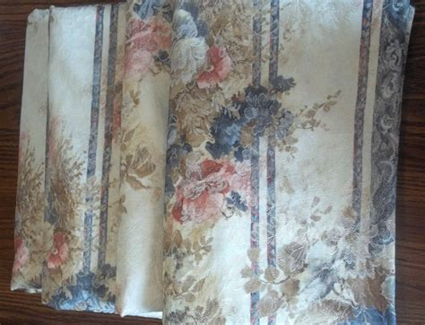 penneys curtains and drapes floral drapes jc penney 11935 blue pink 24 x 62 lot