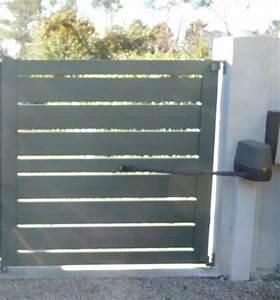 Fixation Portail Battant : portail battant ajour alu lame 170 mm sur mesure leportailalu ~ Premium-room.com Idées de Décoration