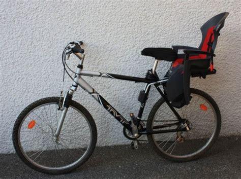 siege bebe velo suspendu location vélo vtt avec porte bébé à villaz par jean