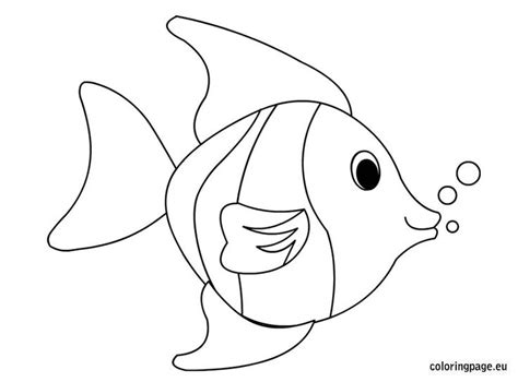 Tropical Fish Coloring Pages by Tropical Fish Coloring Page