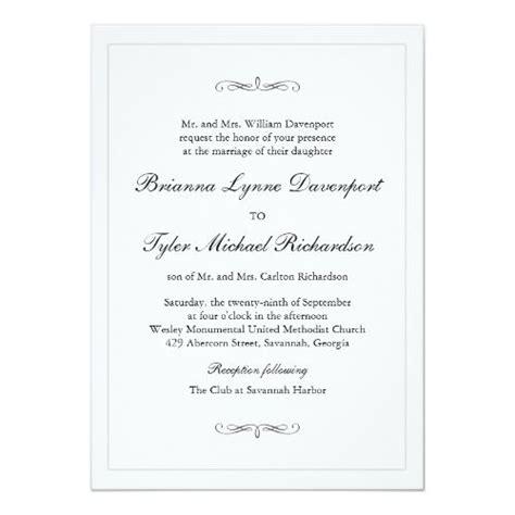 classic simple elegance wedding invitation zazzlecom